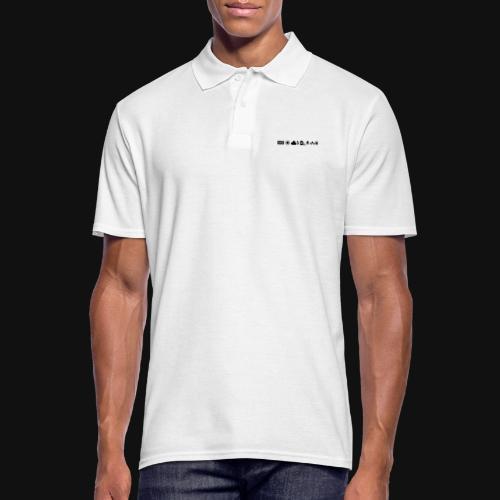 Weissabgleich Symbole Horizontal - Männer Poloshirt