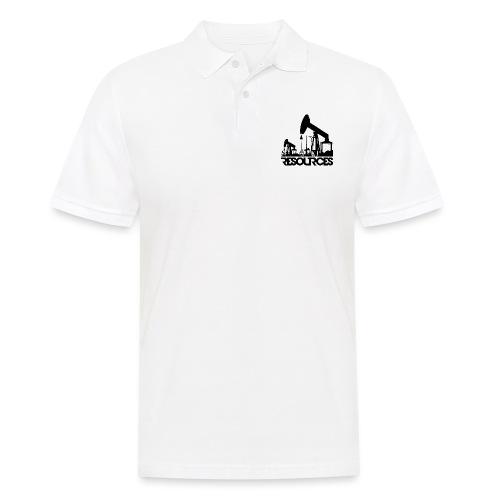 App Icon randlos schwarz - Männer Poloshirt