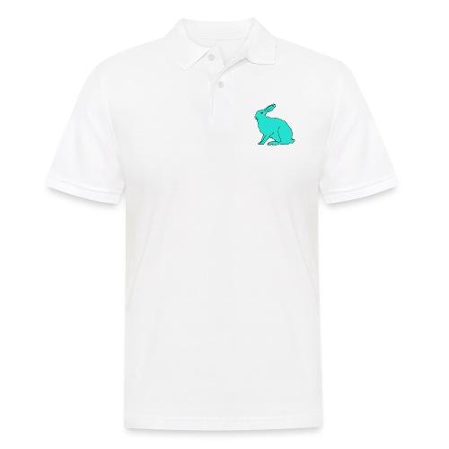 türkiser Hase - Männer Poloshirt