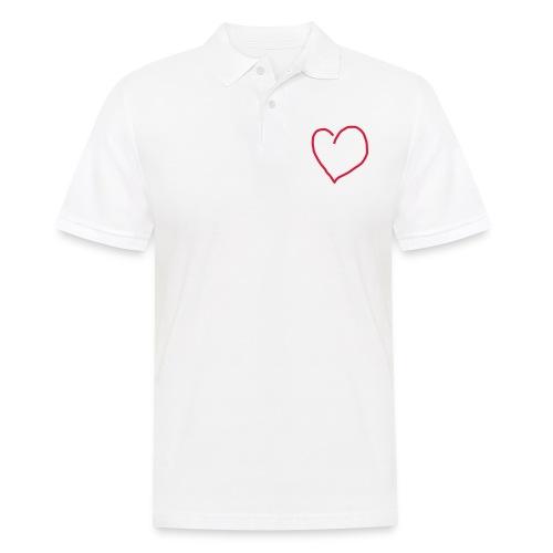 Herz_Red1 - Männer Poloshirt