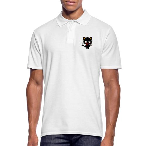 Pothead Cat Cannabis Smoking Weed, legalize it - Men's Polo Shirt