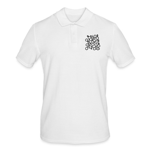 Multi Gender B/W - Mannen poloshirt