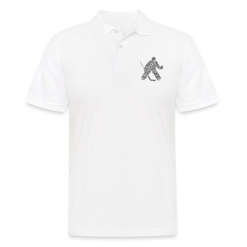 Goalie Lingo - Grunge Text Version (black print) - Men's Polo Shirt