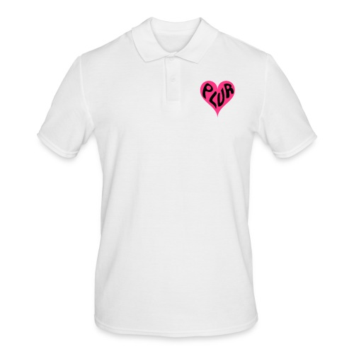 PLUR - Peace Love Unity and Respect love heart - Men's Polo Shirt
