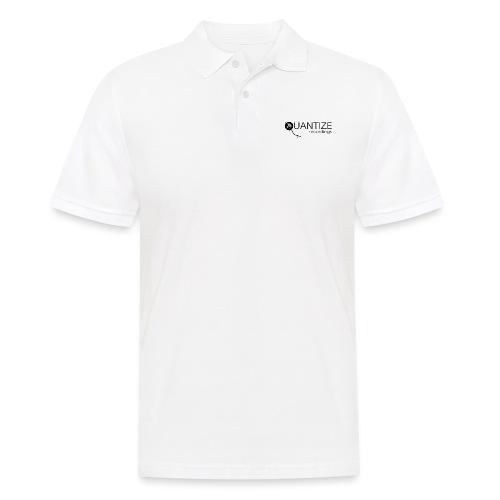 Quantize Black Logo - Men's Polo Shirt