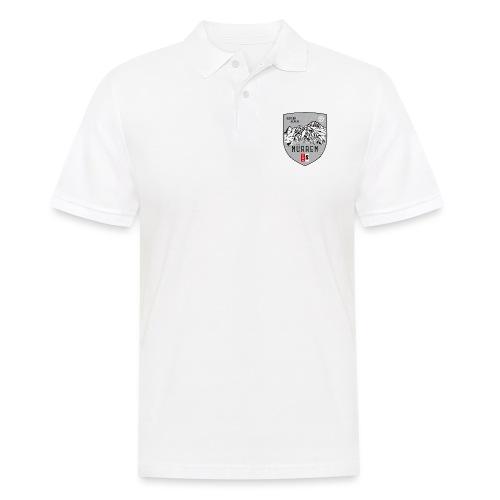 Eiger, Mönch und Jungfrau mit Mürren Flagge - Men's Polo Shirt