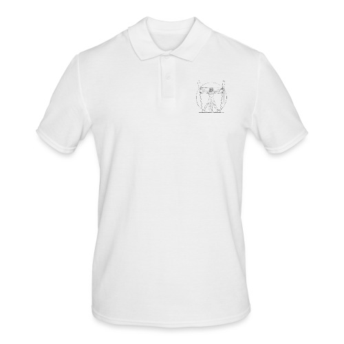 Vitruvian Skiffie black - Men's Polo Shirt