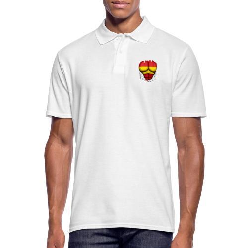 España Flag Ripped Muscles six pack chest t-shirt - Men's Polo Shirt
