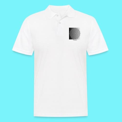 Fibonacci spiral pattern in black and white - Men's Polo Shirt