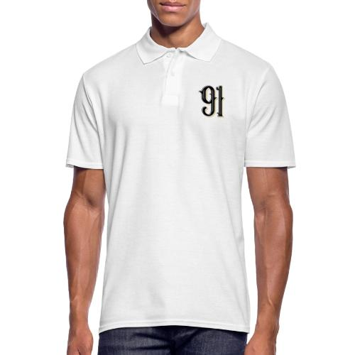 Nineone Classic Style Numbers 01 black - Männer Poloshirt