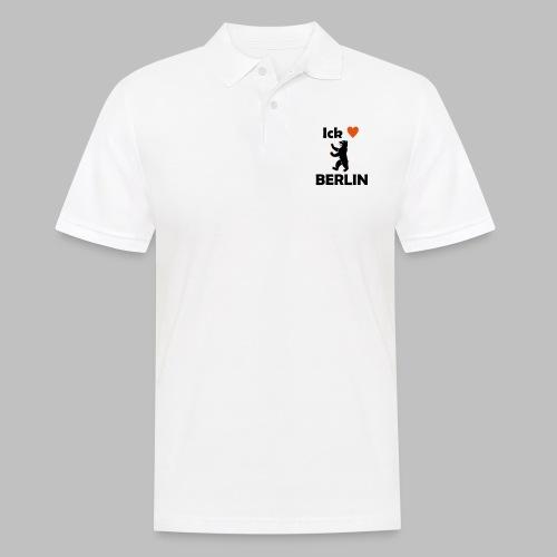 Ick liebe ❤ Berlin - Männer Poloshirt