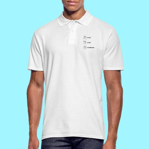 neck back anxiety attack - Men's Polo Shirt