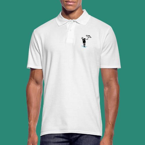 Regenschirmfrau - Männer Poloshirt