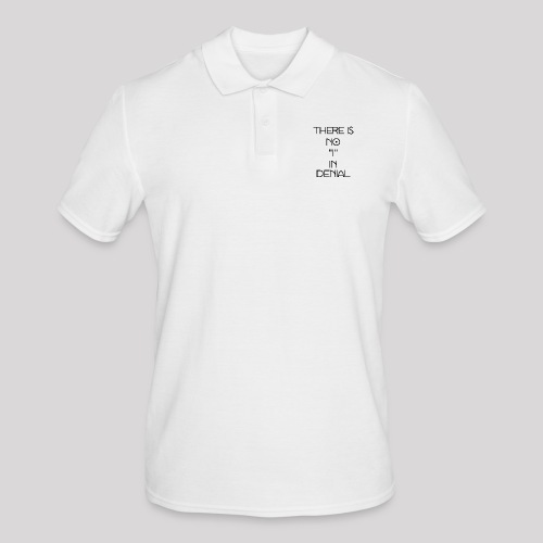 No I in denial - Mannen poloshirt