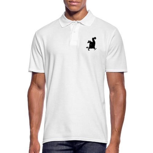 Hellgrau meliert Schwarz Seekuh - Riesenseekuh - Männer Poloshirt