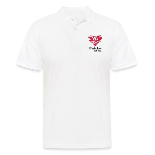 Make Love Not War T-Shirt - Men's Polo Shirt