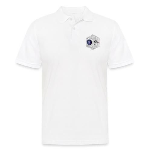 disen o dos canales cubo binario logos delante - Men's Polo Shirt