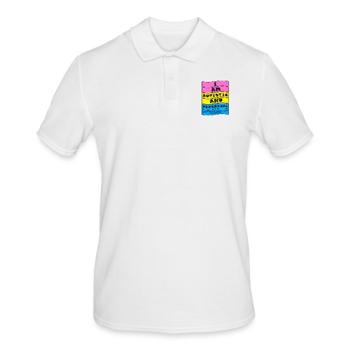 Autistic and Pansexual   Funny Quote - Men's Polo Shirt
