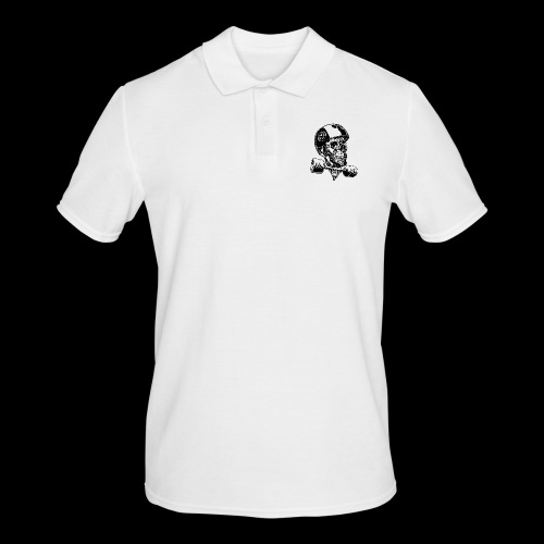 Skull Longboard Rider - positive print - Polo Homme