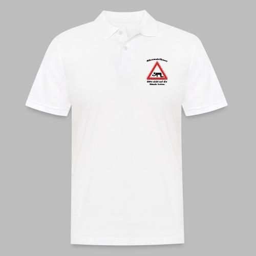 Mikromodell Warnschild Hände - Männer Poloshirt