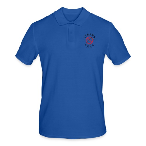 Straws Suck Classic - Men's Polo Shirt