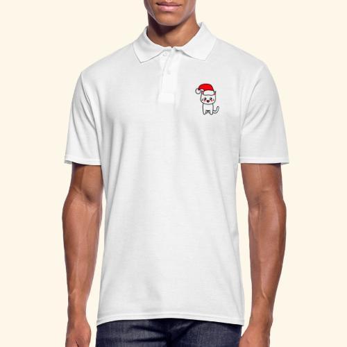 Kawaii Kitteh Christmashat - Männer Poloshirt