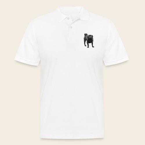 schwarzer Mops - Männer Poloshirt