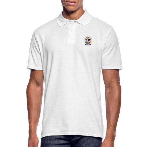 Die Welt mit dir bunt weiss - Klamottendesigns - Männer Poloshirt