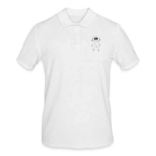 T-shirt teardrops white - Polo da uomo