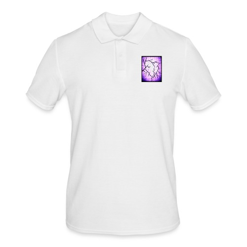 Purple broken heart - Herre poloshirt