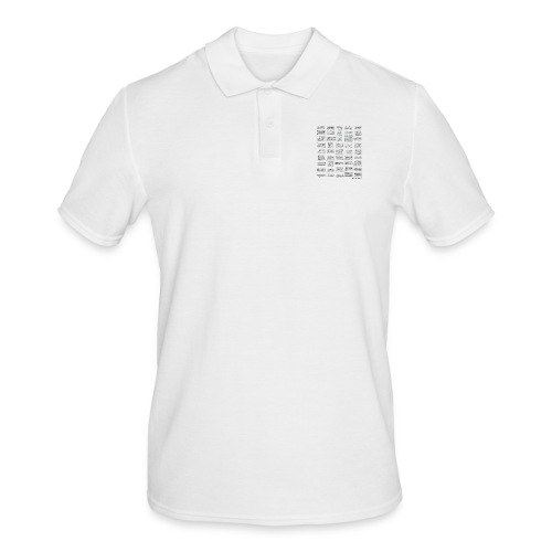 Synth Evolution T-shirt - White - Men's Polo Shirt