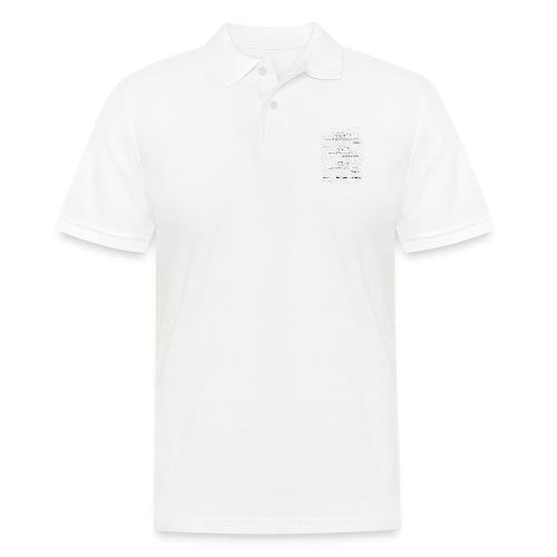 Formulas for calculating steps-per-mm (upturned). - Men's Polo Shirt