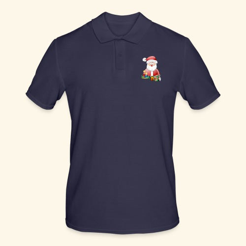 Santa Scene 3 - Men's Polo Shirt