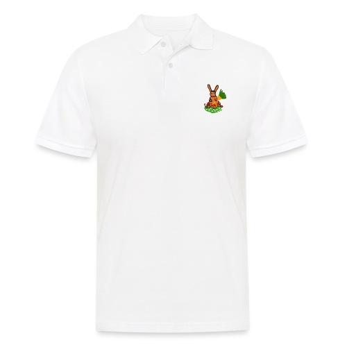 Rabbit with carrot - Men's Polo Shirt