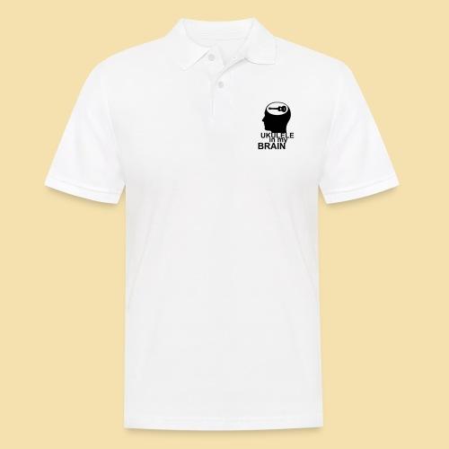 Ukulele in my brain - Männer Poloshirt