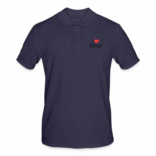Michael designstyle i love Michael - Men's Polo Shirt