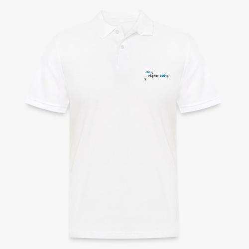 Funny geek - CSS Right 100% Programmer Nerd Tech - Men's Polo Shirt
