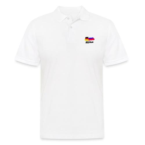 друзья /Deutsch - Russische Freundschaft - Männer Poloshirt