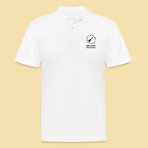 XL Menshirt: Globetrotter (Motiv: schwarz) - Männer Poloshirt