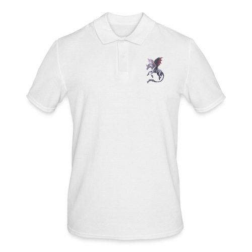 unicorn dragon - Männer Poloshirt
