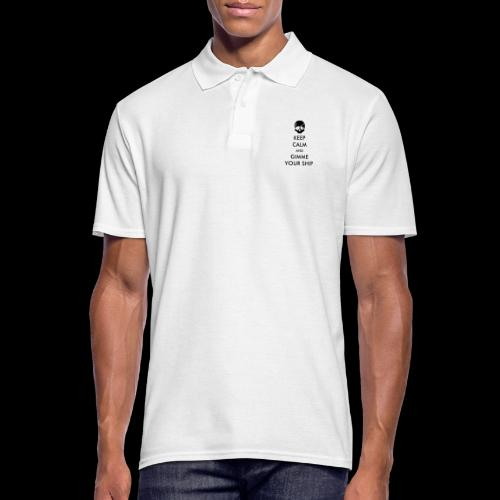 keep calm and gimme your ship - Männer Poloshirt