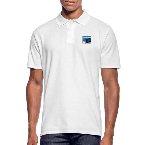 woman in sound - blue - Men's Polo Shirt