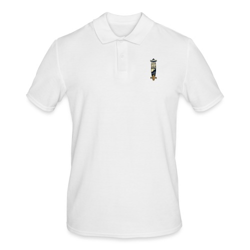 Longboard. Ride the World. - Männer Poloshirt