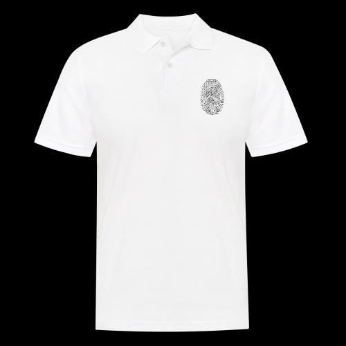 Tintenfisch Fingerabdruck schwarz - Männer Poloshirt