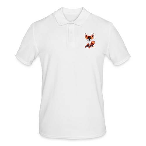 llwynogyn - a little red fox - Herre poloshirt