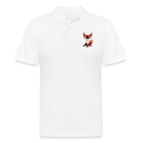 llwynogyn - a little red fox - Männer Poloshirt
