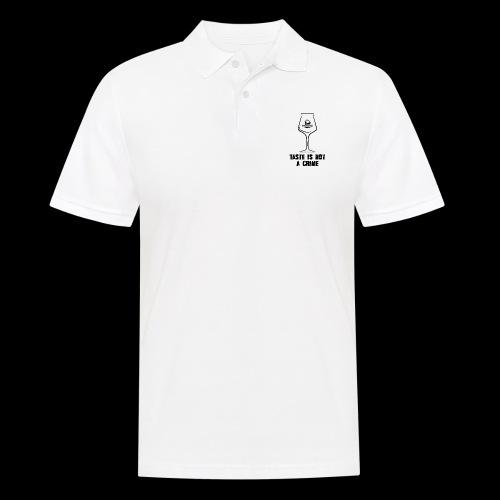 T-Shirt Taste is not a Crime mit schwarzem Druck - Männer Poloshirt