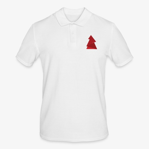 red triangles fir - Men's Polo Shirt