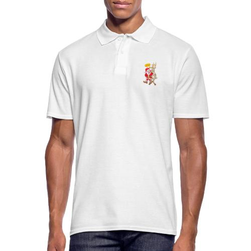 Santa thanks deeply to his red-nosed reindeer - Men's Polo Shirt