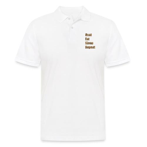 Hunt, Eat, Sleep, Repeat - Männer Poloshirt